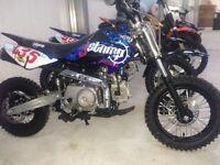 ## new stomp pit bikes,90cc 110cc 125cc 140cc