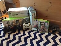 Xbox 360 60GB, 3 controllers, Headset, wireless adapter and 11 Games