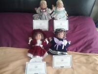 4 GLOOBEE COLLECTABLE DOLLS