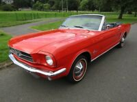 1965 FORD MUSTANG CONVERTIBLE FAST APPRECIATING CLASSIC, 8 MONTHS MOT
