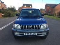 2002 52 TOYOTA LANDCRUISER COLORADO 3.0 D4D GX AUTO BLUE 4x4 8 SEATER