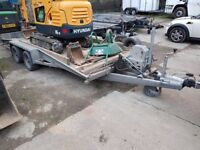 Bateson 3500kg Car trailer tilt bed winch