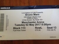 Bruno Mars ticket for sale