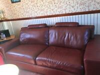 Large Japanese leather settee,
