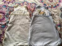 2 x baby sleeping bags