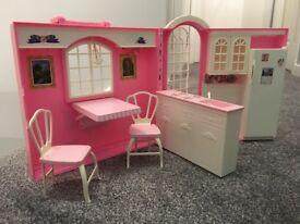 Vintage Barbie Doll Kitchen