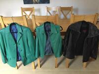 Collection of 18 men's and ladies leather jackets