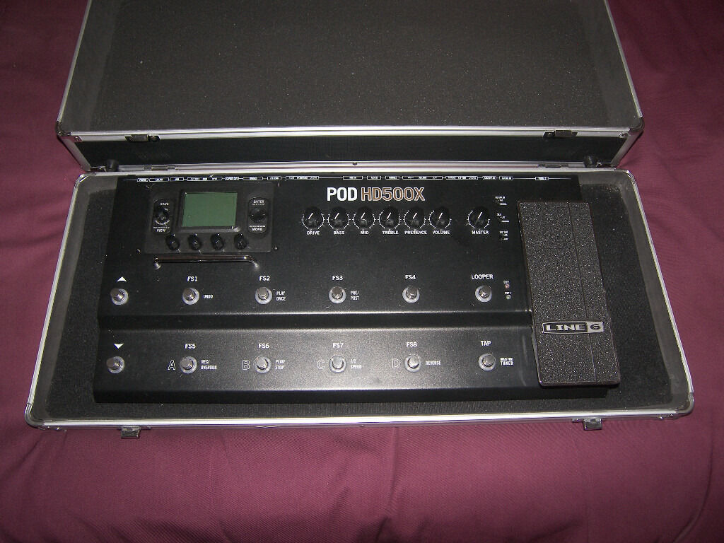 Stagg Hard Case / Pedal Board for Line6 POD HD500X, 500, 400, 300