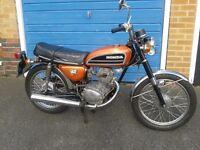 Restored 1974 Honda CB125 bike