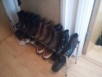 Adjustable shoe rack