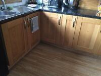 Kitchen cupboard doors-solid oak