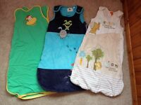 3 baby sleeping bags. All 0-6 months.