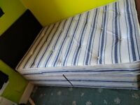 Double Divan Bed w/ Mattress and Headboard