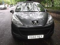 Peugeot 207, 2010, Manual, 1.4 cc, 2 Doors, Grey, 33500 mils, MOT, low cost tax & insurance. £2750.