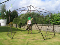 Sharhamadoo portable home (like yurt) with quality green canvas skirt and roof, festivals