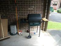 Gas BBQ with side hob burner. £30. Bradford, low Moor