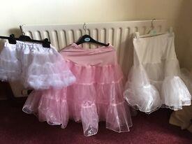 3. Girls bridesmaid underskirts
