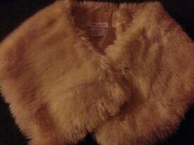 Beautiful luxury faux fur shawl in an off white fur