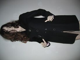 Black Wool Coat (Size 42)