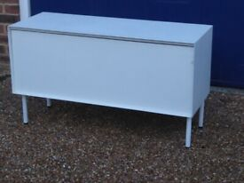 White Metal Storage Cabinet - 2 Available