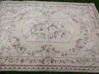 Laura Ashley vintage rug in brown, cream and pink