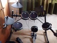 Alesis DM5 Pro Electric Drum Kit with Pearl mesh heads and 682 conversion