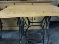 upcycled cast iron table