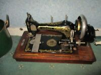 EARLY 20TH CENTURY HARRIS SEWING MACHINE
