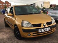 Renault Clio 1.2 2002 + JUST 44,000 MILES + SERVICE HISTORY + 12 MONTHS MOT