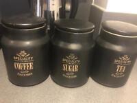 Tea, coffee , sugar jars
