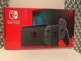 Grey Nintendo switch.