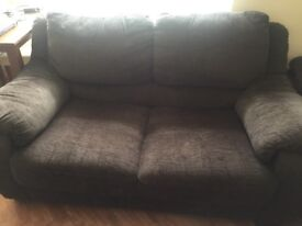 Two seater free three seat great condition chocolate brown
