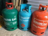 THREE (3) >>>13Kg -CALOR GAS >>>SHELL GAS>>>PROPANE / BUTANE Gas bottles
