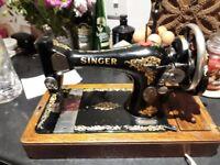 Vintage singer sewing machine. Circa 1890