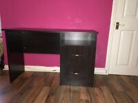 Black desk for sale. Very good condition.
