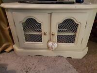 Solid wood tv cabinet done shabby chic style