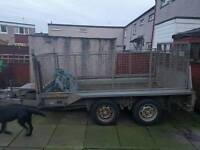 i for williams trailer , husky top handle chain saw, petrol husky blower , 18 inch pro chainsaw vgc