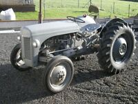 A 1955 FERGUSON TEF 20 Diesel Tractor, BREAKING FOR PARTS ONLY
