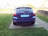Ford focus roof spoiler deep impact blue