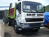 hgv2 skip lorry driver wanted