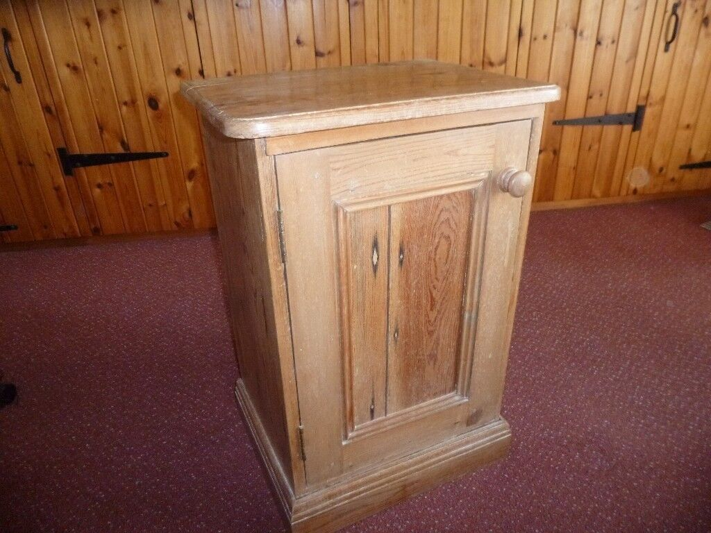 Small Antique Pine Cupboard, Waxed Finish - Small Antique Pine Cupboard, Waxed Finish In Langholm, Dumfries