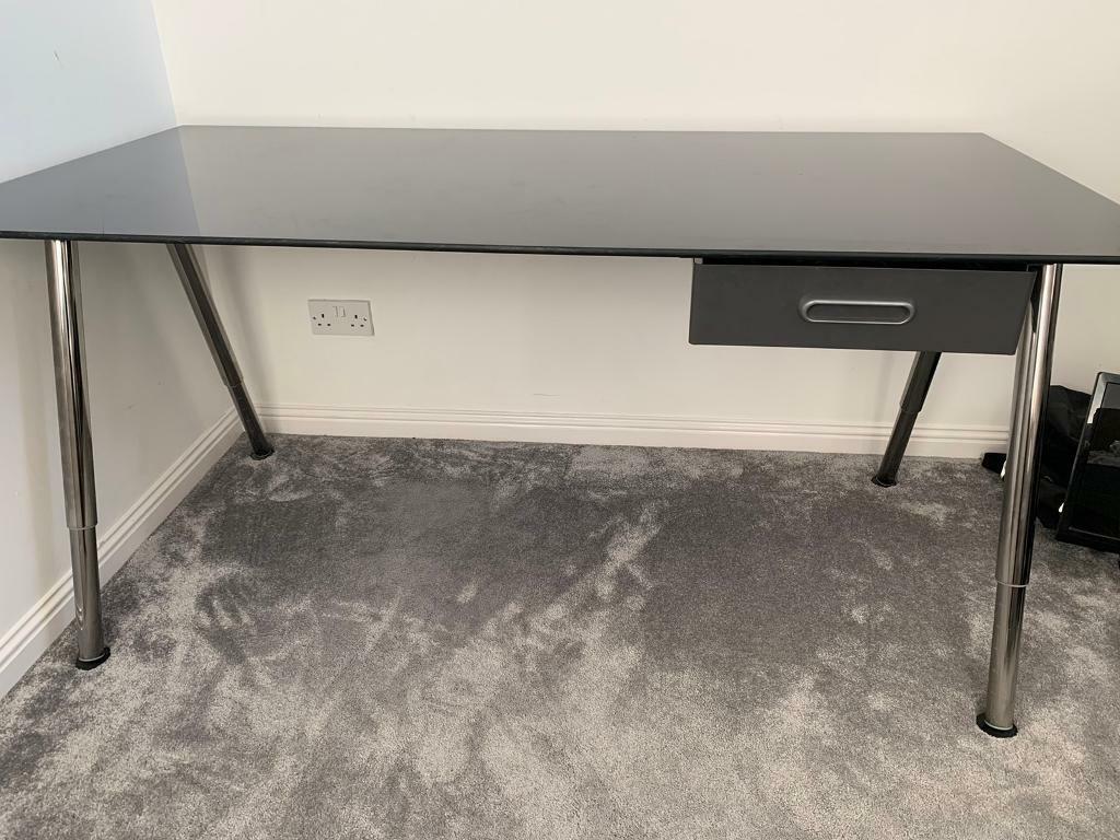 Ikea Glass Table Computer Desk In Wishaw North Lanarkshire Gumtree