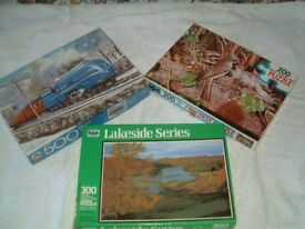 3 Second Hand Puzzles complete and in clean condition.