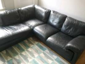 Black corner sofa £100 BARGAIN