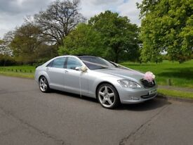 Wedding Car Hire London Mercedes Benz S Class Long WB Limousine, Experienced, Insured, and Licensed