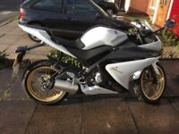 White Yamaha, low mileage. excellent condition