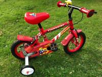 Toddler bike Firechief with outrider wheels