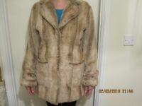 Faux Fur Ladies Coat,