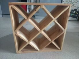 Wooden Wine Cube Rack