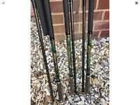 3 x Carp Shimano tribal xtr a camo rare rods 3.0 tc plus 3 x Daiwa tournament s 5000t reels